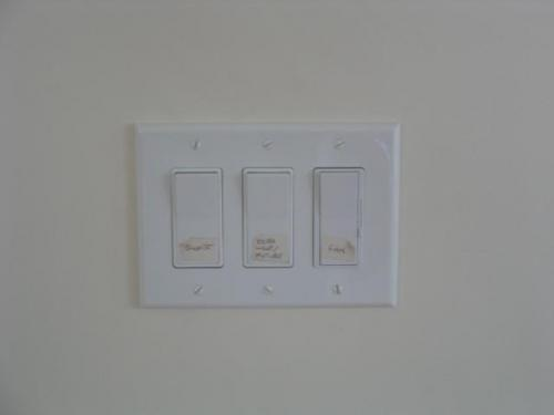 switches - fan switch on right