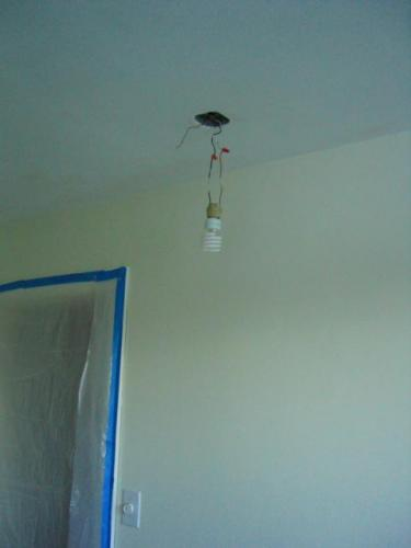 bare bulb in kitchen
