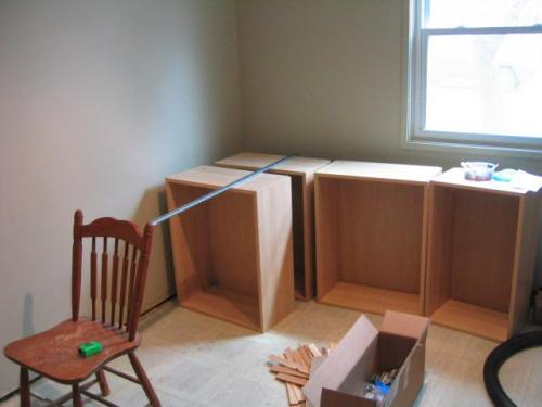 cabinets waiting