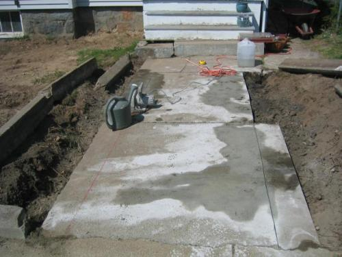 cutting and removing the concrete