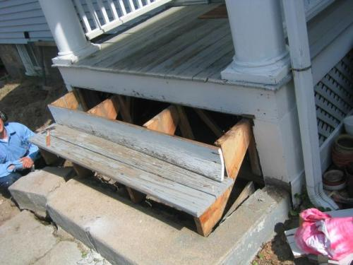 Ripping out the step