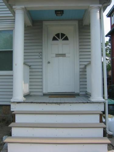newly painted porch