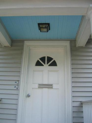 blue porch ceiling