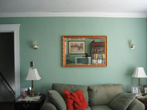 Original Living Room Wall (picture taken during home inspection)