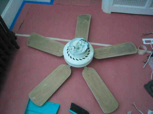 ceiling fan needs to be cleaned